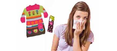 Аллергия на одежду, на шерстяную одежду