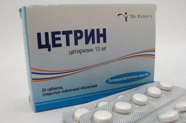 После обследования врачи при экземе складок назначают противоаллергических средств, такие как Цетрин